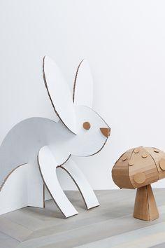 cardboard animals - party decor diy idea