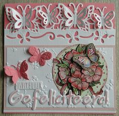 Creaties met Papicolor papier Crafters Companion Cards, Shabby, Embossed Cards, 3d Cards, Marianne Design, Butterfly Cards, Heartfelt Creations, Birthday Cards, Diy And Crafts