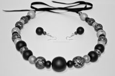 Set – Black&Grey Bobby Pins, Black And Grey, Hair Accessories, Bracelets, Handmade, Beauty, Jewelry, Fashion, Fimo