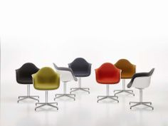 Eames Plastic Armchair Fully Upholstered   PACC By Vitra   Office Chairs    Chairs   Furniture