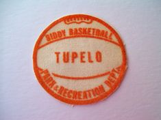 Vintage 1960's Biddy Basketball Patch from Tupelo, Ms Parks & Rec