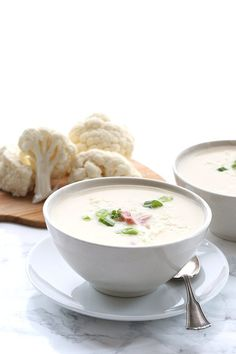 Ham and cheese cauliflower soup made in your crock pot.