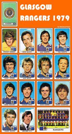 old-school-panini: Memories Glasgow Rangers 1979 Rangers Football, Rangers Fc, Best Football Team, Soccer Cards, Football Cards, Football Pics, Football Stuff, John Greig, Ranger School