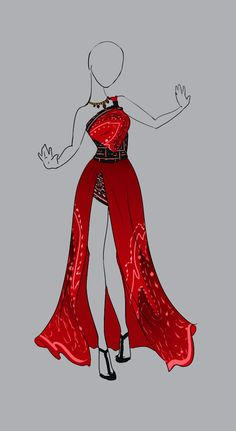 Luciana Drawing Anime Clothes, Dress Drawing, Anime Outfits, Cool Outfits, Fashion Outfits, Fashion Design Drawings, Fashion Sketches, Vestidos Anime, Anime Dress