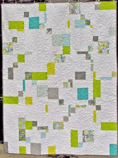 A modern double disappearing 9 patch quilt top by Marty Mason ... : disappearing patch quilt - Adamdwight.com