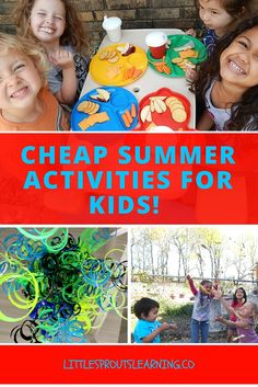 There are so many things kids can do that don't cost a ton of money. So why spend a ton on activities when you can make up your own stuff on the cheap.