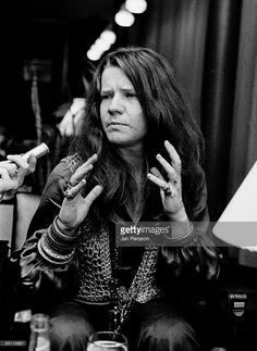 Photo of Janis JOPLIN; Janis Joplin, posed, being interviewed