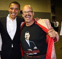 "President Barack Obama and Tom Joyner (""The fly jock"")"