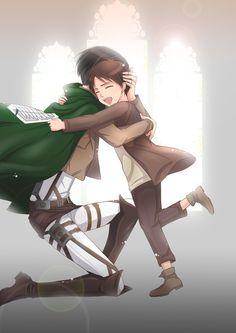 Rivaille (Levi) and Eren