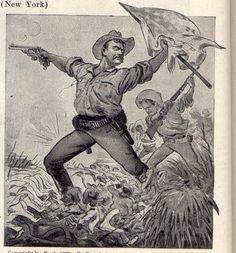 Rough Riders, American War, Maine, Spanish, Military, Painting, Art, Art Background, Painting Art