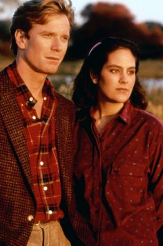 "William R. Moses and Annabeth Gish from ""Mystic Pizza"" (1988)"