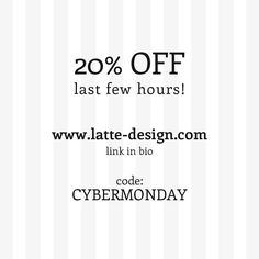 Last few hours to get a 20% off in all my products. Enjoy!!!