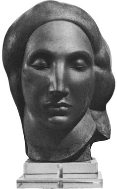 Gaston Lachaise (1882- 1935) Egyptian Head 1922 Bronze