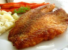 Pan Fried Seasoned Tilapia Recipe - Food.com.  **Tried 6-18-15. This is really good! I made minor adjustments. I cut paprika and butter in half and used 1/2 black pepper and 1/2 lemon pepper (total of a scant 1/2 teaspoon).