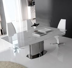 rodeo drive cattelan italia table with marble top extending to Marble Dining Table Set, Granite Table, Contemporary Dining Table, Contemporary Furniture, Dining Tables, Bespoke Furniture, Luxury Furniture, Expandable Dining Table, Italian Furniture