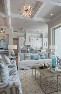 I don't know why I am attracted to this #beachhousedecorbedroom Coastal Living Rooms, Home Living Room, Living Room Designs, Living Room Furniture, Coastal Cottage, Wooden Furniture, Outdoor Furniture, Antique Furniture, Living Room Decor Nautical