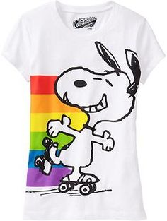 f2c3b61021217b Girls Snoopy© Rainbow Tees | Old Navy Snoopy Clothes, Snoopy Shirt, Snoopy  Pictures