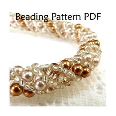 Russian Spiral Stitch Beading Pattern, Necklace Tutorials, Jewelry Tutorial, Beading Patterns, Necklaces, Instructions, Pearls, Crystals. $8.00, via Etsy.