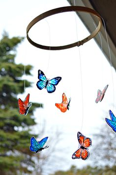 Shrink Plastic Butterfly Mobile | MyPrintly