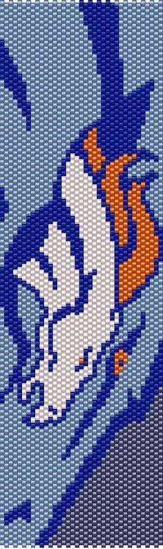 Broncos Beaded Fan Bracelet Pattern