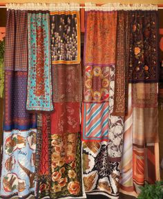 It would be simple to make patchwork style curtains like this.