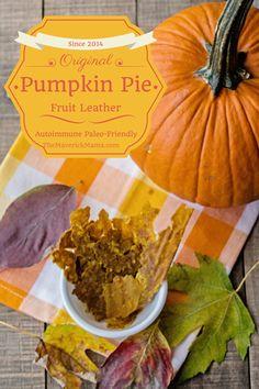 The Maverick Mama - Dehydrated Pumpkin Pie Leather Paleo Pumpkin Recipes, Raw Food Recipes, Snack Recipes, Blender Recipes, Canning Recipes, Healthy Recipes, Healthy Treats, Vegan Treats, Dehydrated Food
