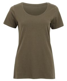 Postie+ - Women's Scoop Neck Organic Tee, Ivy Green, 100% Cotton, Sz 26NZ, $8NZ