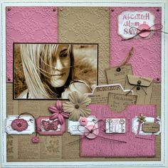 Love the use of kraft paper and tickets in this layout. PAT - COLL DOUCEUR & CIE