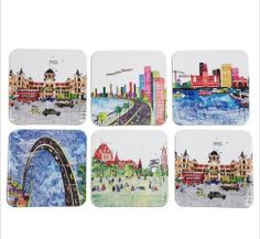 Mumbai Scapes coasters. Play Clan does it again!