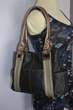 4873f7f90f Tignanello Purse Black Gray  Tignanello  ShoulderBag