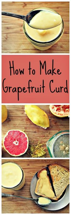 When you have a lot of citrus, this is one amazing way to use it up. Grapefruit curd is easy to make and delicious! Real Food Recipes, Dessert Recipes, Desserts, Dessert Sauces, Cupcake Recipes, Delicious Recipes, Grapefruit Curd, Grapefruit Recipes, Lemon Curd