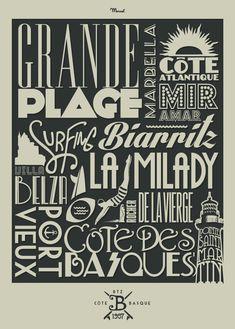 © Marcel BIARRITZ Typography www.marcel-travelposters.com