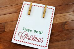 Track how many days until Christmas with this free Christmas Countdown Printable! This DIY Christmas Countdown sign is flexible and easy to put together - kids love this Christmas countdown activity! Countdown Until Christmas, Days Until Christmas, Christmas Diy, How Many Days, Printables, Activities, Signs, Track, Free