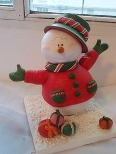 Porcelana fria polymer clay pasta francesa masa flexible fimo gum paste figurine modelado topper xmas christmas navidad natal