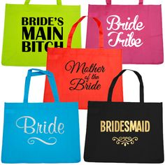 Totes - Tee's - Hoodies - Sashes - Temporary Tattoos and more! Tote Bags, TShirts, Sashes, Robes, Hoodies and all the Hens Party Supplies you can imagine! Hens Party Supplies, Mother Of The Bride, Paper Shopping Bag, Reusable Tote Bags, Design Ideas, Bridesmaid, Hoodies, Tattoos, Gowns