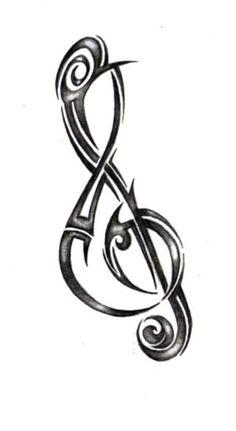 treble clef tattoo designsGirl Body Painting