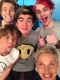 Ellen is awesome... Thanks so so much for letting us rock out :) ... happy days! Love you guys x - ash