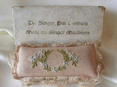 The Singer Pin Cushion  Made on Singer Machines