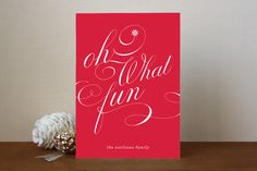Tons Of Fun Holiday Non-Photo Cards by Carrie ONea... | Minted