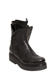 5e0847e349d 40MM BUTTONED NAPPA LEATHER BOOTS Sughiț