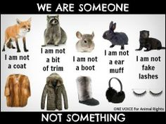 WE ARE SOMEONE, NOT SOMETHING