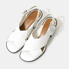 Block Heel Sandals - White - Wedges - Shoes | CHARLES & KEITH