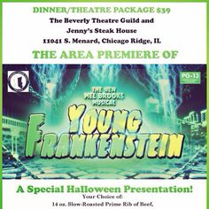 Come out and have dinner and see the show after! Call now Slow Roasted Prime Rib, Prime Rib Of Beef, Chicago Ridge, The Beverly, Presentation, Dinner, Suppers