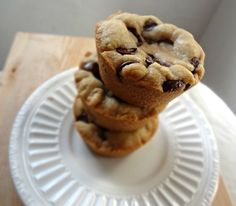 The Cooking Actress: Brown Butter Chocolate Chip Cookie Cups