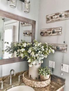 Master Bathroom Makeover Reveal- Farmhouse Style | Bless This Nest #BeddingIdeasMaster