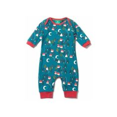 2df1198855 Organic Fairtrade Cotton Forest Footprints Playsuit via Polyvore featuring  organic baby cloth