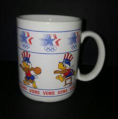 Vons 84 Summer Olympics Sam Olympic Eagle Stars In Motion Coffee Mug Cup 14 Oz