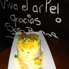 El Pimpi, Malaga, Spain.  Ensalada Malagueña (cod and orange salad).  El Pimpi is an institution in Malaga.  The walls are covered in wine barrels which all sorts of notable people have autographed.  Charming, well-priced, and delicious!