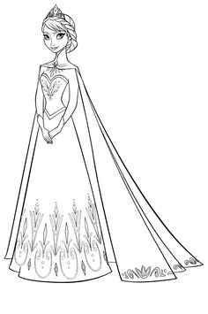 Disney Frozen Coloring Sheets Elsa Anna and Kristoff Elsa