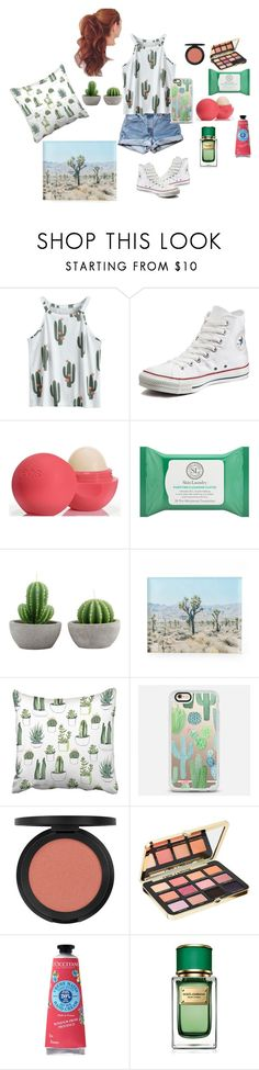"""I'm a Desert Rat XD"" by fashion-designer-12-13 ❤ liked on Polyvore featuring Levi's, Converse, Eos, Skin Laundry, Casetify, Bare Escentuals, Too Faced Cosmetics, L'Occitane and Dolce&Gabbana"